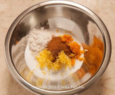 dry ingred in bowl