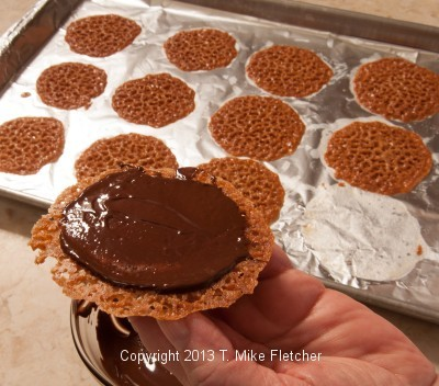 Chocolate on cookie