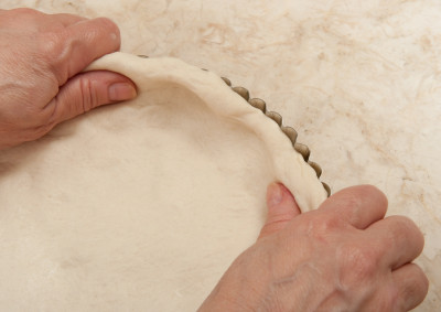 Pressing Crust up sides