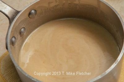 Filling in pot melted