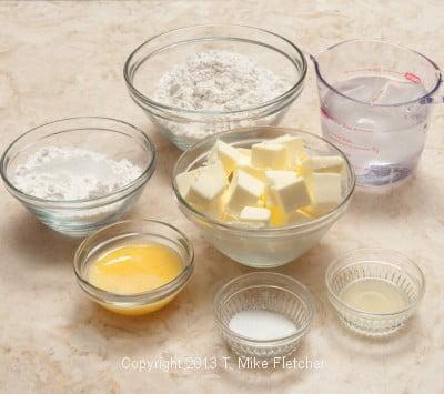 Pate Brisee ingredients