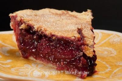 Slice of cut Very Berry Tart