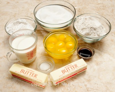 Pound cake ingredients