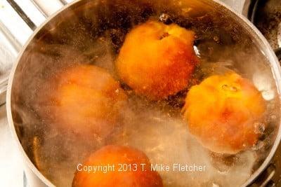 Peaches boiling