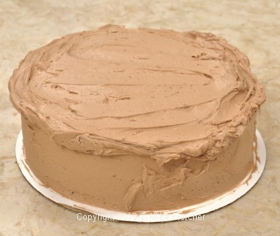 Frosting overhanging top edge