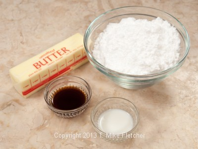 American Buttercream ingredients