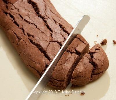 Slicing baked
