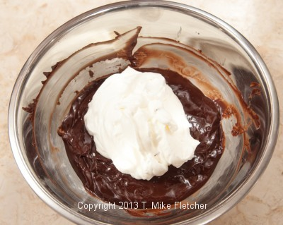 Dark choc. with whipped cream