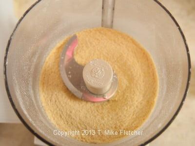 Cornmeal in processor
