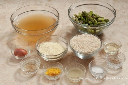 Ingredients Lemon Asparagus Risotto Cakes