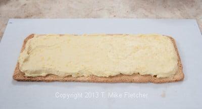 1st layer pastry cream spread
