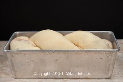 Shaped risen bread