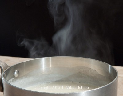 Cream Steaming in pan