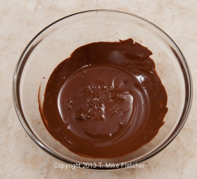 Chocolate for fans melted
