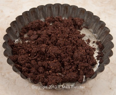 2/3 crust ingred in pan