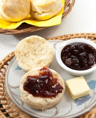 Cream Biscuits with Strawberry Jam
