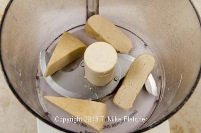 Frozen dough in processor