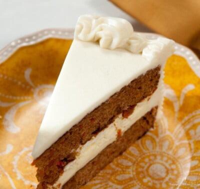 Carrot Cake Cheesecake slice