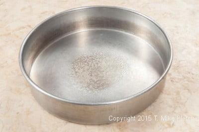 Sprayed pan