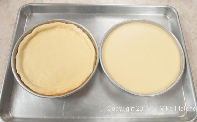 two cheesecake layers