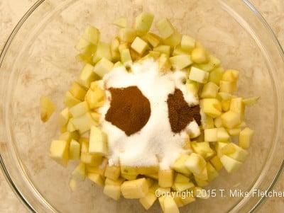 Filling ingredients in bowl