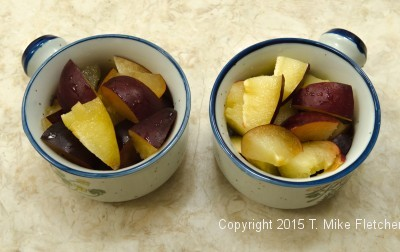 Pluot in casseroles
