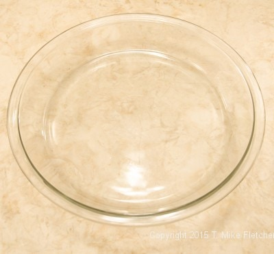 Pyres glass pie plate for Double Banana Caramel Cream Pie