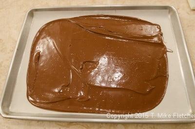 Chocolate spread for TJ's Cowboy Bark