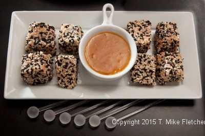 Sesame Salmon for the Last Minute Appetizers