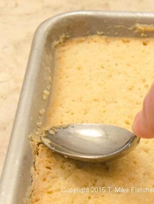 Sealing baked edge for the Updated Lemon Bars