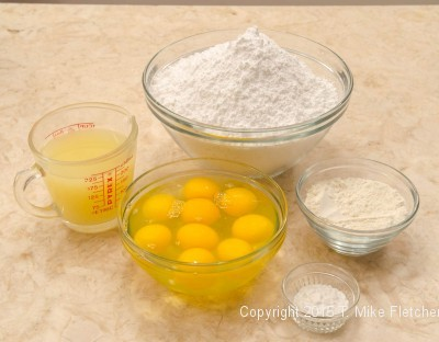 Filling ingredients for the Updated Lemon Bars