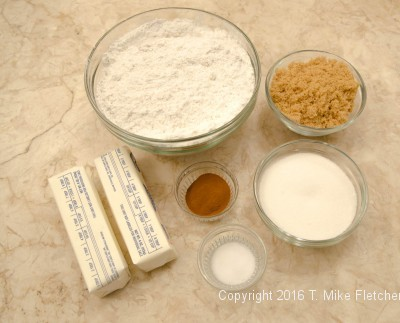 Crumb ingredients for the New York Crumbcake