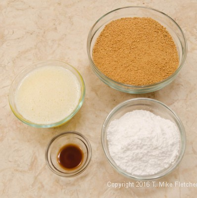 Crust ingredients for S'Mores' Bars