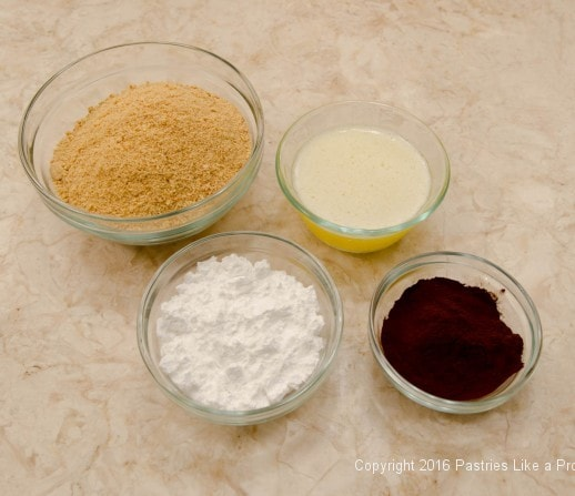 Crust Ingredients for the No Bake Peanut Butter Bars