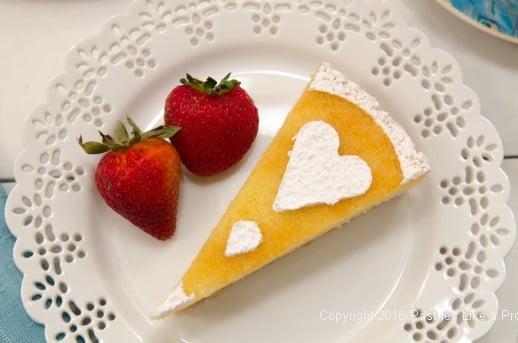 Slice of Orange Almond Teacake