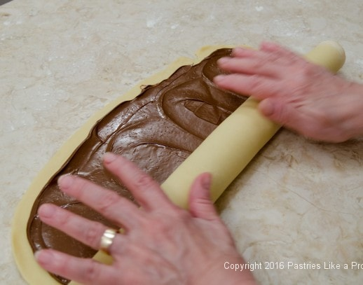 Rolling up for the Chocolate Babka