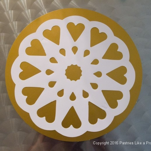 Stencil for Orange Almond Teacake
