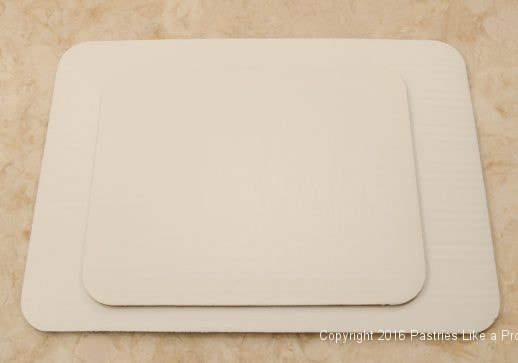 Two rectangular corrugated boards for Internet Bakery Suppliers of Cake Paper Goods