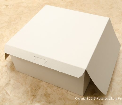 Assembled box for Internet Bakery Suppliers of Cake Paper Goods