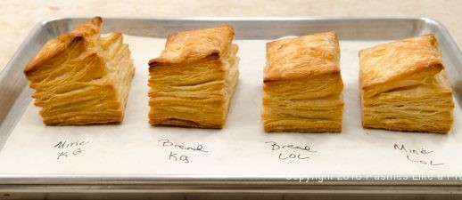 Baked puff pastry for American vs. European Butter