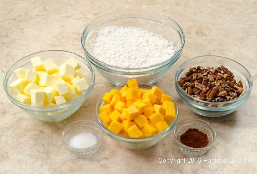 Ingredients for Cheddar Pecan Shortbreads