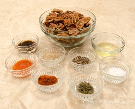 Ingredients for Hot Peppered Pecans