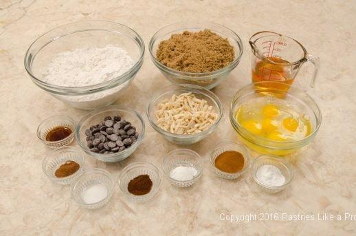 Ingredients for the Honey Diamonds