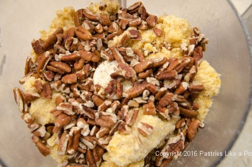 Pecans added for t he Cheddar Pecan Shortbreads