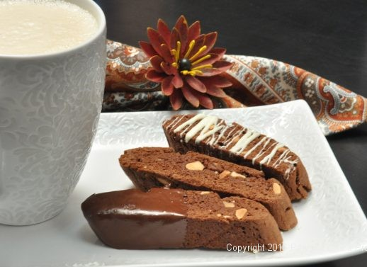 Chocolate Spice Olive Oil Biscotti for Holiday Baking
