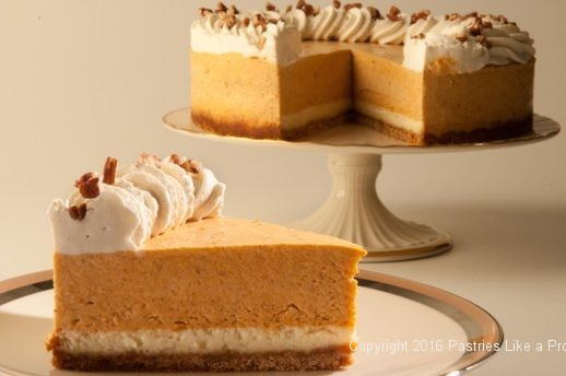 Pumpkin Mousse Torte for Holiday Baking