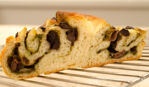 Slice of Italian Stuffed Bread