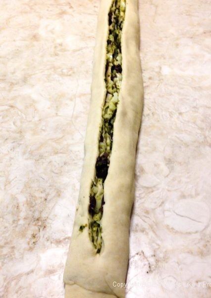 Dough slit for Stuffed Italian Bread