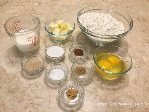 Ingredients for Brandied Chocolate Cherry Almond Garmisch