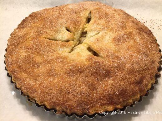 Baked Honey Thyme Apple Tart